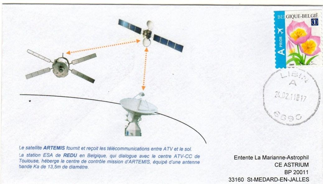 A200 2 - Vol 200 - ATV 2 - 24 Février 2011 - Station radar de REDU Belgique - Avant docking ATV contact Terre via le satellite Artémis
