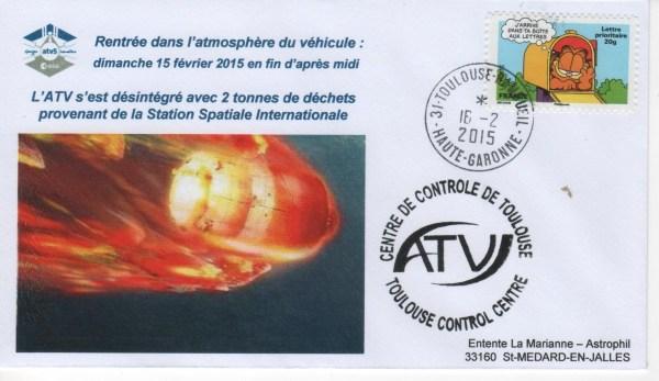 A219 6 - Vol 219 - ATV 5 - 15 Février 2015 Destruction dans l'atmosphère