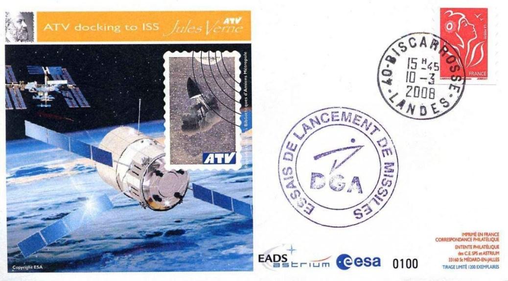 ATV1 CELM2 red - Vol 181 - 09 Mars 2008 - Station de poursuite Radar CEL Biscarrosse (France)