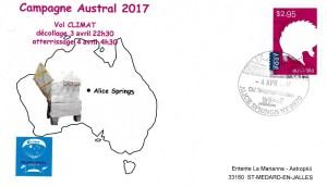 Austral Climat - Spatial - 04 Avril 2017 - Ballon campagne Austral 2017 CNES - atterrissage Vol Climat