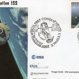 DC004 1 - Document - 04 Octobre 2007 Premier Jour timbre conquête de l'espace