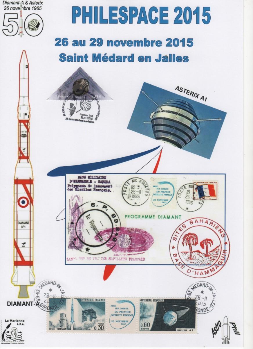 DC007 - Document - 26 Novembre 2015 - Cinquantenaire du lancement du premier satellite Français ASTERIX