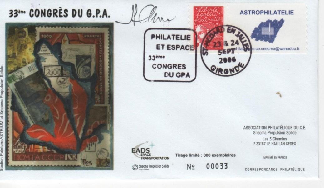 DC011 - Document - 23 & 24 Septembre 2006 - Congrès GPA - Philatélie et Espace