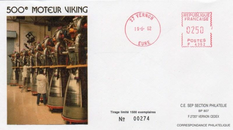 DD005 - Développement Ariane 4 - 19 Mai 1992 - 500ème moteur Viking