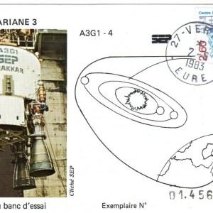DD010 - Développement Ariane 3 - 02 Juin 1983 Campagne d'Essais Étage Drakkar - Essai A3G1-4