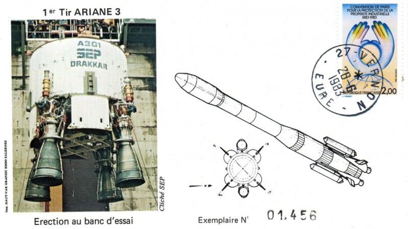 DD011 - Développement Ariane 3 - 28 Juin 1983 Campagne d'Essais Étage Drakkar - Essai A3G1-5