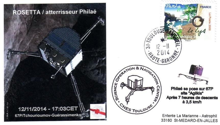Rosetta pose 20141112 - Vol 158 - 12 Novembre 2014 - Descente et Atterrissage de PHILAE sur la Comète 67P