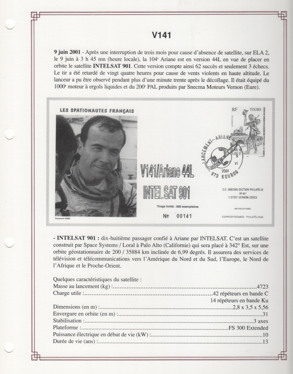 FA005 - Fiches Album - Vol 141 à Vol 153 - Campagnes d'Essais, Expositions - (31 Fiches) - Tome 3 A5 -