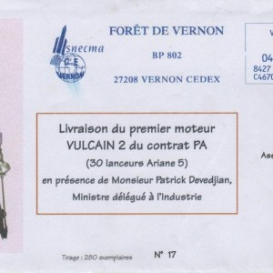 017 - Livraison du premier Moteur Vulcain 2 pour intégration 04 Avril 2005