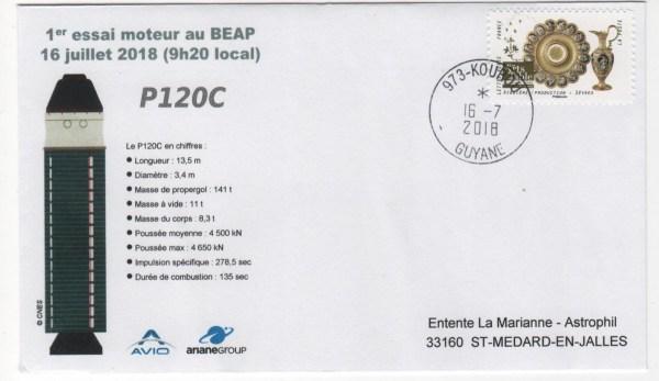 001 - Ariane 6 - Vega-C -  1er essai moteur P120C - 16 Juillet 2018