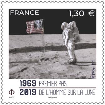 2019 50AnniversairePasHommmeLune red - 50 ans premier pas de l'Homme sur la lune