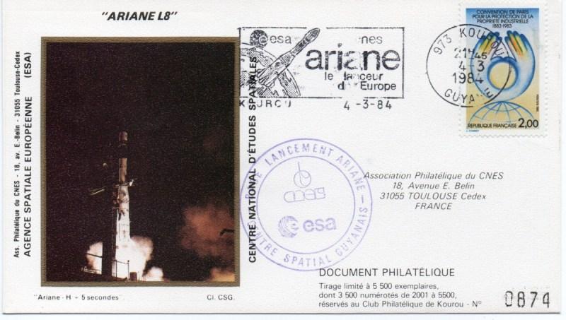 img20191126 18215172 - Kourou (Guyane) Lancement Ariane 1 - Tir V8 - 04 Mars 1984 (Pochette CNES Complète)