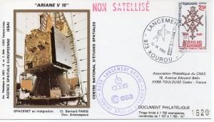 img20191127 15154728 300x171 - Kourou (Guyane) Lancement Ariane 3 – Vol 15 - 12 Septembre 1985 (Pochette CNES Complète)