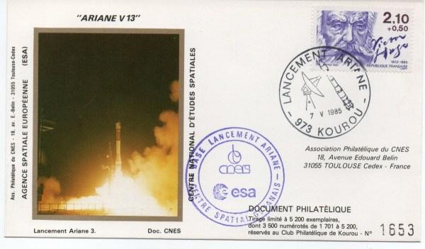 img20191127 16210793 - Kourou (Guyane) Lancement Ariane 3 – Vol 13 - 07 Mai1985 (Pochette CNES Complète)