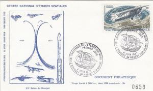 """Divers 1er jour Atlantique Nord - Premier jour du timbre """"Traversée de l'Atlantique Nord"""" - 33ème Salon du Bourget - 04 Juin 1977"""