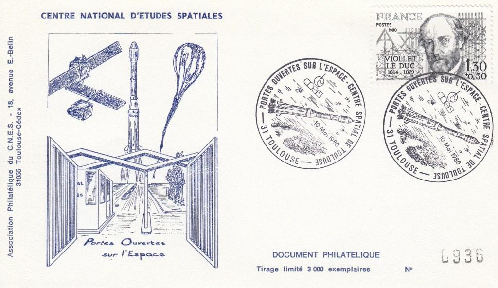 Divers Portes ouvertes CST - Commémoratif - Portes ouvertes sur l'espace - CNES Toulouse 10 Mai 1980