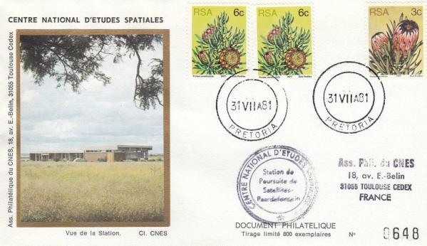 Divers Pretoria Arret station - Station radar de Pretoria (Afrique du Sud) - Fin d'utilisation par le CNES 31 Juillet 1981