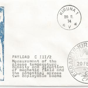 Numérisation 20191222 10 - Base Kiruna (Suède) - Tir Centaure 2A - 20 Février 1974 - Agence SSC (Suède)