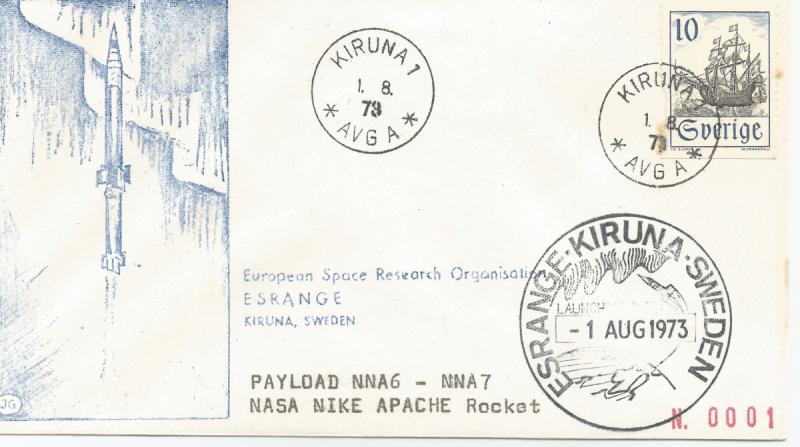 Numérisation 20191222 11 - Base Kiruna (Suède) - Tir 2 Nike Apache - 01 Aout 1973 - Agences SSC ( Suède), NASA (USA)