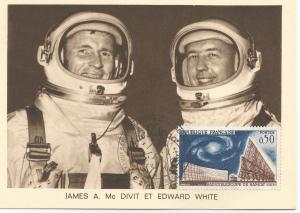 Numérisation 20191222 12 - 27ème Salon du Bourget 26 Mai 1967 - Carte Postale équipage Gémini 4