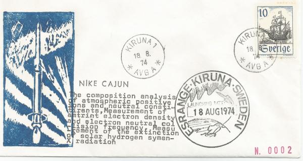 Numérisation 20191222 9 - Base Kiruna ( Suède) - Tir Nike Cajun - 18 Aout 1974 - Agence NDRE (Norvège)