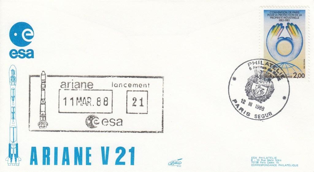 V21 Ariane3 - Paris Ségur - lancement Ariane 3 Vol 21 - 12 Mars 1988