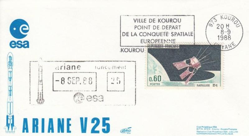 V25 Ariane3 - Kourou - Lancement Ariane 3 Vol 25 - 08 Septembre 1988