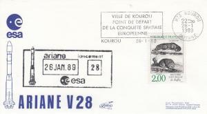 V28 Ariane2 - Kourou - Lancement Ariane 2 Vol 28 - 26 Janvier 1989