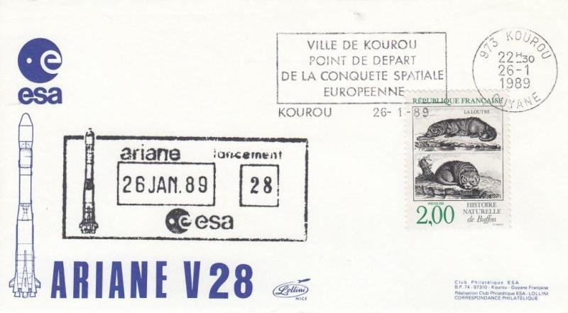 V28 Ariane2 - Kourou - Lancement Ariane 2 Vol 28 - 26 Janvier 1989 - C1