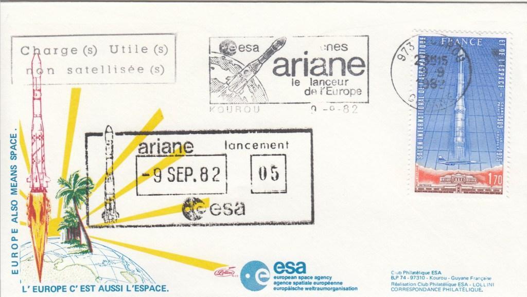 V5 Ariane1 1 - Kourou - Lancement Ariane 1 - L5 - 09 Septembre 1982