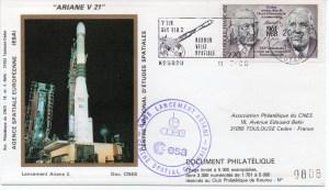 img20191207 16555687 - Kourou (Guyane) Lancement Ariane 3 – Vol 21 - 11 Mars 1988 (Pochette CNES Complète)