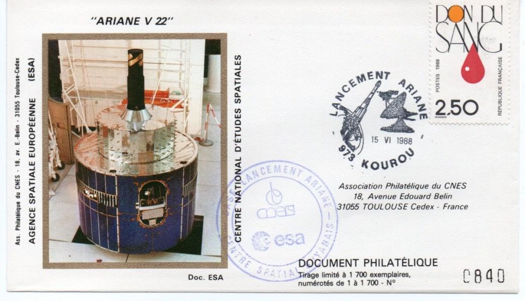 img20191207 16572745 - Kourou (Guyane) Lancement Ariane 4 44LP – Vol 22 - 15 Juin 1988 (Pochette CNES)
