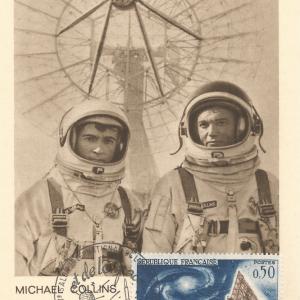 Numérisation 20191222 17 - 27ème Salon du Bourget 26 Mai 1967 - Carte Postale équipage Gémini 10
