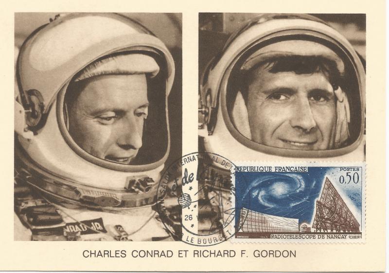 Numérisation 20191222 19 - 27ème Salon du Bourget 26 Mai 1967 - Carte Postale équipage Gémini 11
