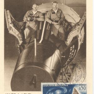 Numérisation 20191222 20 - 27ème Salon du Bourget 26 Mai 1967 - Carte Postale équipage Gémini 12