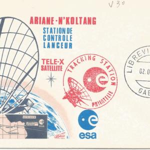 Numérisation 20191222 36 - Station de poursuite Radar de Libreville Gabon Lancement Ariane 2 – Vol 30 - 02 Avril 1989 (Enveloppe Club ESA - Lollini)