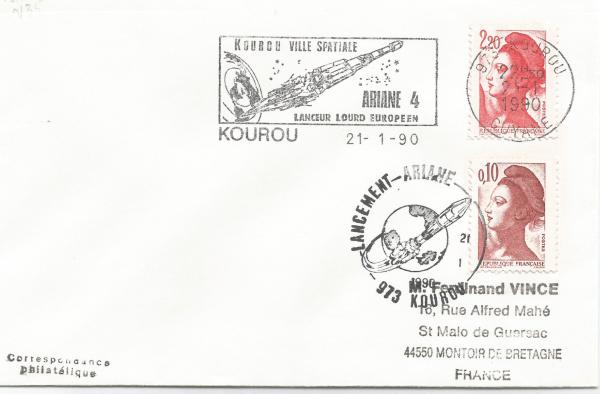 Numérisation 20191222 68 - Kourou (Guyane) Lancement Ariane 4 - 40 – Vol 35 - 21 Janvier 1990