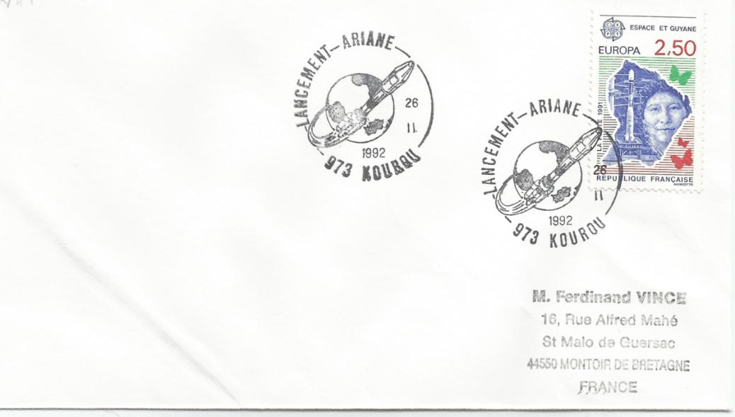 Numérisation 20191222 71 - Kourou (Guyane) Lancement Ariane 4 - 44L – Vol 49 - 26 Février 1992