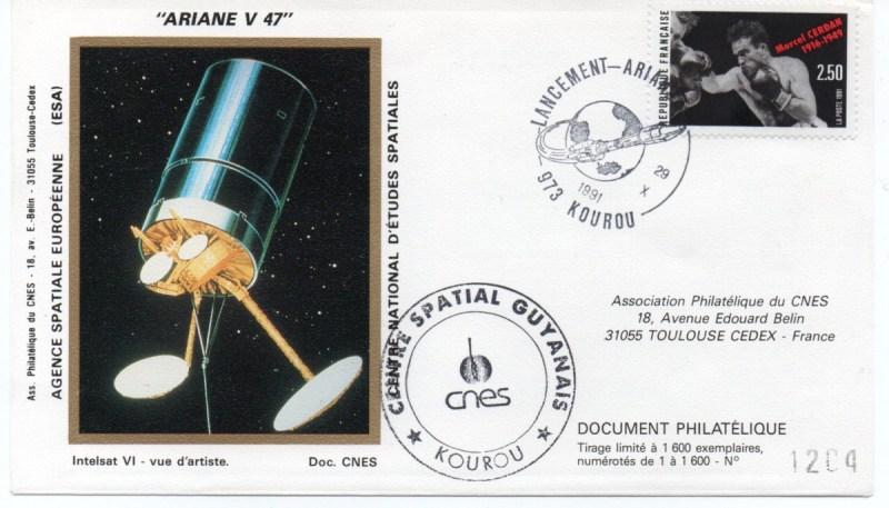 img20200426 18085544 - Kourou (Guyane) Lancement Ariane 4 - 44L – Vol 47 - 29 Octobre 1991 (Enveloppes Club Phila du CNES)