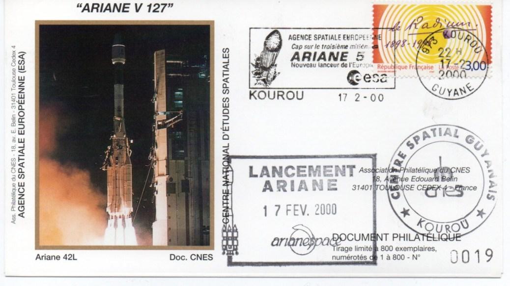 img20200426 18164078 - Kourou (Guyane) Lancement Ariane 4 - 44LP – Vol 127 - 17 Février 2000 (Enveloppes Club Phila du CNES)