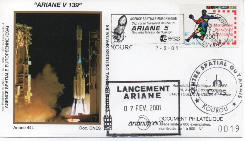img20200427 18031503 - Kourou (Guyane) Lancement Ariane 4 - 44L – Vol 139 - 07 Février 2001 (Enveloppes Club Phila du CNES)