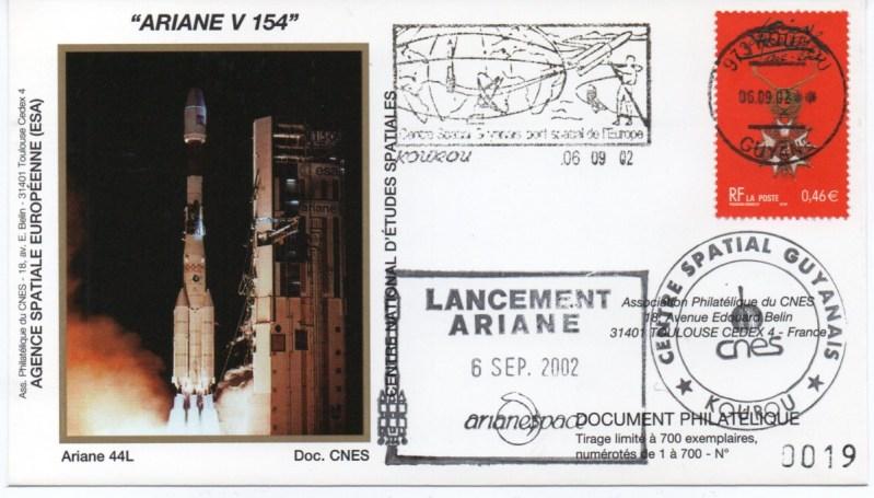 img20200427 18144338 - Kourou (Guyane) Lancement Ariane 4 - 44L – Vol 154 - 06 Septembre 2002 (Enveloppes Club Phila du CNES)