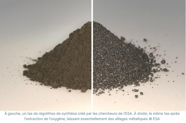 b2 - L'ESA travaille sur une usine capable de transformer la poussière de Lune en oxygène