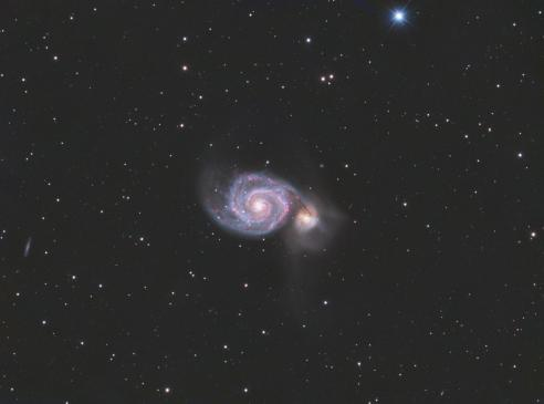 Astroforum.nl forumpower - M51 the Whirlpool Galaxy - LHaRGB composite