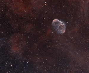 The Crescent Nebula and the Soap Bubble Nebula - by André van der Hoeven, Kees Scherer, Sara Wager and Dominque Dierick