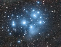 The Pleiades star cluster a.k.a. the Seven Sisters (M45), by Jeroen Moonen