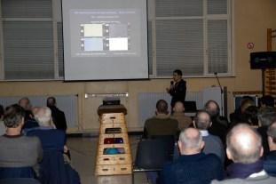 Mabula speaking at the Volks Sterrenwacht Urania, Hove, Belgium