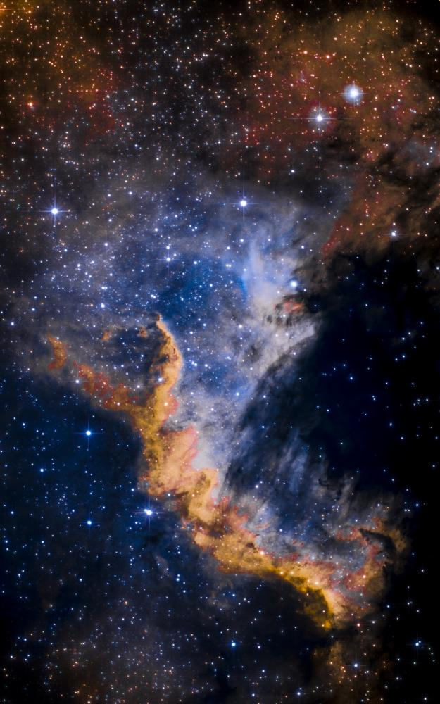 Cygnus Wall HST V22 AI