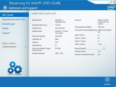 Info Intel UHD Grafik