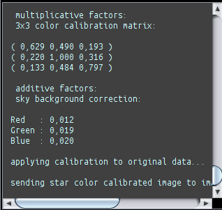 StarColorCalibration parameters shown properly